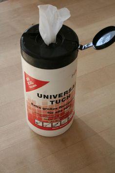 Universal Reinigungstücher. Die helfen wirklich bei der Handreinigung!