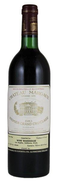 1983 Margaux. Type: Red Wine, Bordeaux Red Blends (Claret), Premier Cru (First Growth), 750ml. Region: France, Bordeaux, Margaux. 345$ (8.625 Kc)