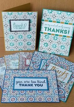 Stampin' Up! Demonstrator stampwithpeg – Quick Card Thurday :Moroccan, washi way to say Thank you. Christmas cards are all made, time to stock up on general cards, the first ones I will need after…