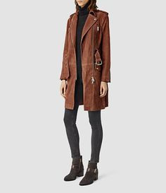 Womens Chiltern Suede Mac (BRICK BROWN) - product_image_alt_text_2