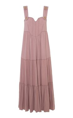 Ines Sleeveless Cotton Maxi Dress By Anna Mason | Moda Operandi Anna Mason, Tiered Dress, Organic Cotton, Spring Summer, Slim, Summer Dresses, Pink, Fashion Design, Shopping