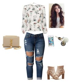 """""""Untitled #339"""" by kristian321 ❤ liked on Polyvore featuring Charlotte Russe, MICHAEL Michael Kors, Ray-Ban, Yves Saint Laurent, Hartford and Givenchy"""
