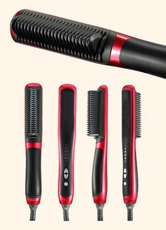 3b2136894 Hair Straightener, HESHU Hair Brush Electric Comb Hair Straightening Irons  (Black) * More info could be found at the image url.