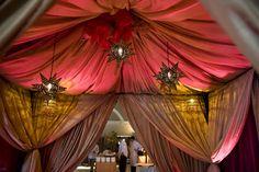 Wedding, Lanterns, Tent, Theme, Indian, Draping, Fabric, Casa real