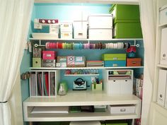 Great Craft Closet idea!  Love this for the spare bedroom closet!!