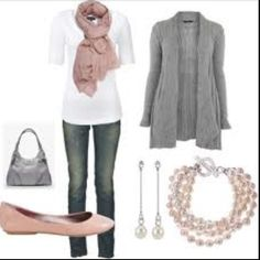 I love the cardigan, scarf, the outfit as a whole, and love the color combo.