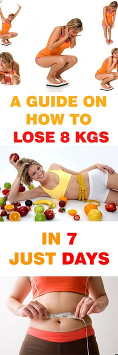HOW TO LOSE 8 KGS WEIGHT IN 7 DAYS ?!