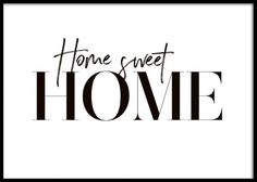 Sweet Home Poster in the group Prints / Sizes / 50x70cm | 20x28 at Desenio AB (10369)