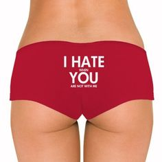 Happy wife means a happy life. Customize a cute pair of hot shorts (panties or undies) to wear on your wedding night, honeymoon or just after the wedding. Funny Underwear, Bridal Shower Gifts For Bride, New Wife, Happy Wife, Hot Shorts, Wedding Night, Going Crazy, Gym Shorts Womens, Tees
