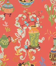 Kravet 'Teablossom' fabric in the Lacquer color Fabric Dining Chairs, Chair Fabric, Drapery Hardware, Fabric Houses, Home Decor Fabric, Chinoiserie, Linen Fabric, Home Furnishings, Fabric Design