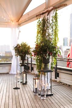 A modern burgundy wedding ceremony and reception with Infinity Hospitality at The Bridge Building Event Spaces in downtown Nashville, Tenn. Wedding Altars, Wedding Ceremony, Ceremony Arch, Reception, Rooftop Wedding, Garden Wedding, Wedding Centerpieces, Wedding Decorations, Winter Wedding Favors