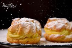 Cream puffs. Here you can find recipe for cream puffs with photos and step by step instruction. http://saute.pl/ptysie/