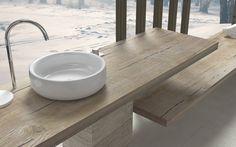 Ripiani In Legno Per Bagno : 57 fantastiche immagini su mensole lavabo nel 2019 half bathrooms