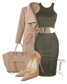 """""""Untitled #2843"""" by breannamules ❤ liked on Polyvore featuring CÉLINE and Jimmy Choo"""