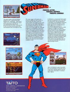 SUPERMAN ARCADE FLYER