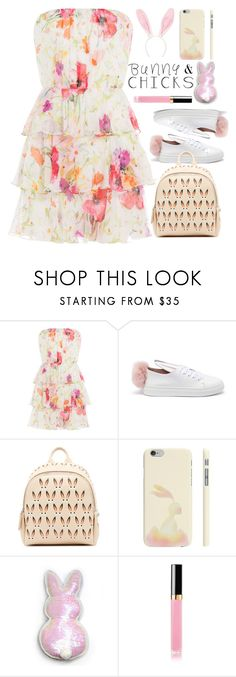 """""""#748 Hops"""" by mayblooms ❤ liked on Polyvore featuring Ralph Lauren Blue Label, Minna Parikka, MCM, INC International Concepts, springdresses and bunnydecor"""