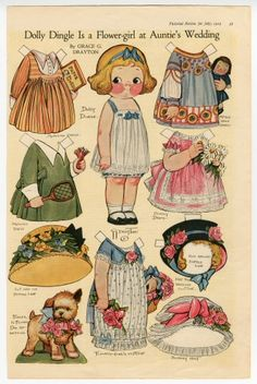 75.2972: Dolly Dingle Is a Flower-Girl at Auntie's Wedding | paper doll | Paper Dolls | Dolls | National Museum of Play Online Collections | The Strong