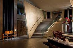 "Paramount Hotel lobby ""Ian Schrager designed"""