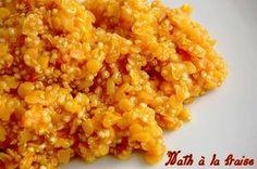 Lentilles corail et quinoa au curry (recette au Thermomix)