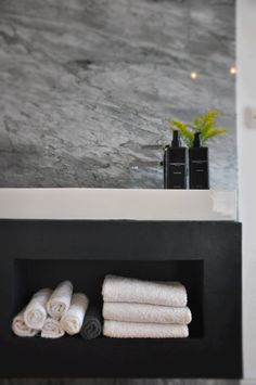 Guest Bathroom -Sink - Gray Marble -
