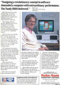 Bill Gates in a Radio Shack Ad