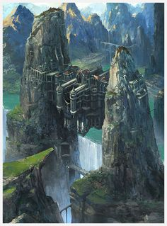 fantasy city concept art | Fantasy Architecture Concept Art Untitled fantasy environment