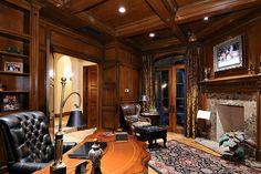 A gentleman's office - dudepins.com #gentleman #office #interior