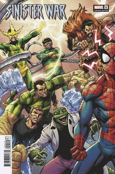 Sinister War #1 | Variant cover art by Mark Bagley, John Dell & Brian Reber Marvel Comic Books, Marvel Comics, Savage Dragon, Lost Horizon, Mark Bagley, Greatest Villains, My Little Pony Friendship, Comic Book Covers, Amazing Spider