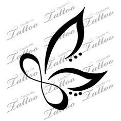 Marketplace Tattoo Infinity Butterfly #18436 | CreateMyTattoo.com