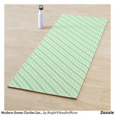 Modern Green Circles Lines Pattern Yoga Mat Green Gifts, Line Patterns, Green Colors, Circles, Finding Yourself, Outdoor Blanket, Stationery, Stripes, Exercise