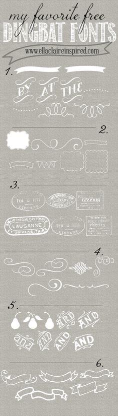 Links to 6 Fabulous FREE Dingbat fonts!