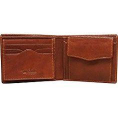 ab310d76bdd Tony Perotti Mens Italian Bull Leather [Personalized Initials Embossing] Bifold  Wallet with Removable ID Card Case and Coin Pocket in Cognac