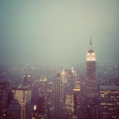 Manhattan - NYC Skyline at Twilight, Mad Men, New York Photograph, Empire State Building, Father's Day, Dad, For Him