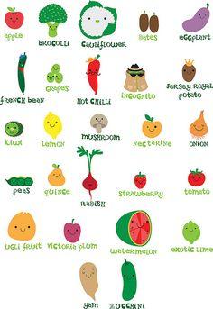 veggie fruit alphabet