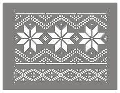Nordic Stencil Nordic Pattern 1