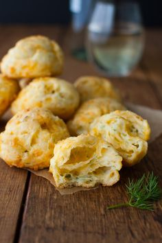 Cheddar Dill Puffs - Based on the French gougère, these cheese puffs are slightly crispy on the outside and light and airy on the inside.