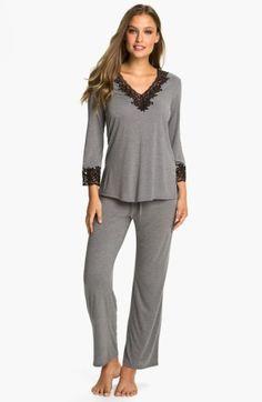 Natori 'Lhasa' Pajamas these look so comfy Cute Sleepwear, Sleepwear Women, Pajamas Women, Pyjamas, Pjs, Loungewear Outfits, Nightwear, Pajama Set, Lounge Wear