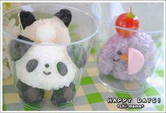Panda and elephant onigiri