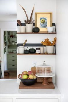 Fall Decorating in My Dining Room #fall #decor #decorating #diningroom #styling Black Sideboard, Vintage Sideboard, Pitchers Of Flowers, Inspired By Charm, Black Bowl, Fall Candles, Extra Storage Space, Vintage Chairs, Fall Decorating
