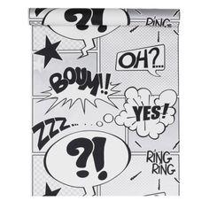 Papier peint sur papier Boum, gris, larg. 0.53 m