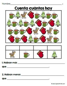 Printables Bilingual Worksheets bilingual february first grade math worksheets and centers love this actividad de contar para kindergarten counting worksheets