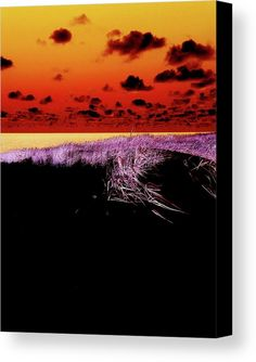 Marina Usmanskayafantastic Sylt By Marina Usmanskaya Canvas Print featuring the photograph Fantastic Sylt by Marina Usmanskaya  Negativ image of a Dune on the island of Sylt in North Sea. Germany for home design