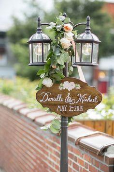 vintage wedding sign decor
