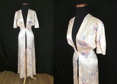 1940s Silk Floral Robe, $150 | 20 Vintage Boudoir Fashions You Need Now