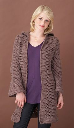 3e6b73c72d79c7 Crochet Long Jacket pattern Crochet Jacket
