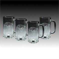 Arkansas Razorbacks Beer Mug Set of 4