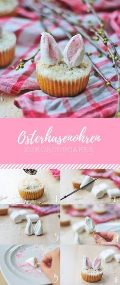 Osterhasenohren Kokoscupcakes