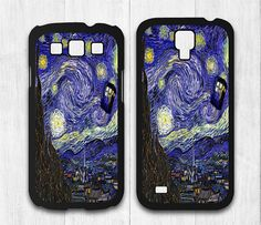 Tardis Samsung Galaxy s4 case, Galaxy s3 case - Doctor Who On Starry Night - Galaxy s4 cover, Galaxy s3 cover, Hard / Rubber Case