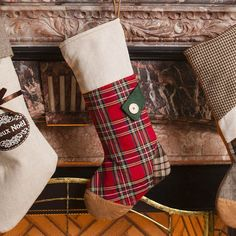 Add some extra print and culture to your home this Christmas with the addition of this red tartan stocking. Boasting rich Scottish charm, this stocking features a patchwork effect in completing colours. The body of the stocking is finished in a bright red traditional tartan, covering a large section of the front and the complete back of the stocking.