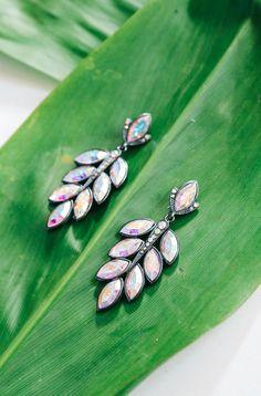 Neve Earrings - Loren Hope Dangly Earrings, Chandelier Earrings, Bridesmaid Earrings, Bridal Earrings, Diy Jewelry, Jewellery, Jewel Tones, Jewelry Branding, Statement Jewelry
